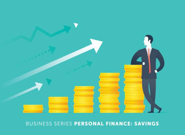 personal savings - small business owner stock illustrations
