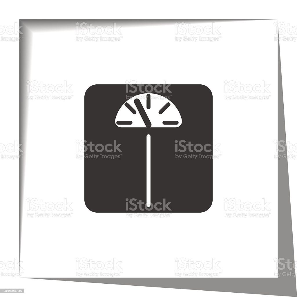 Personal Scale icon with cut out shadow effect vector art illustration