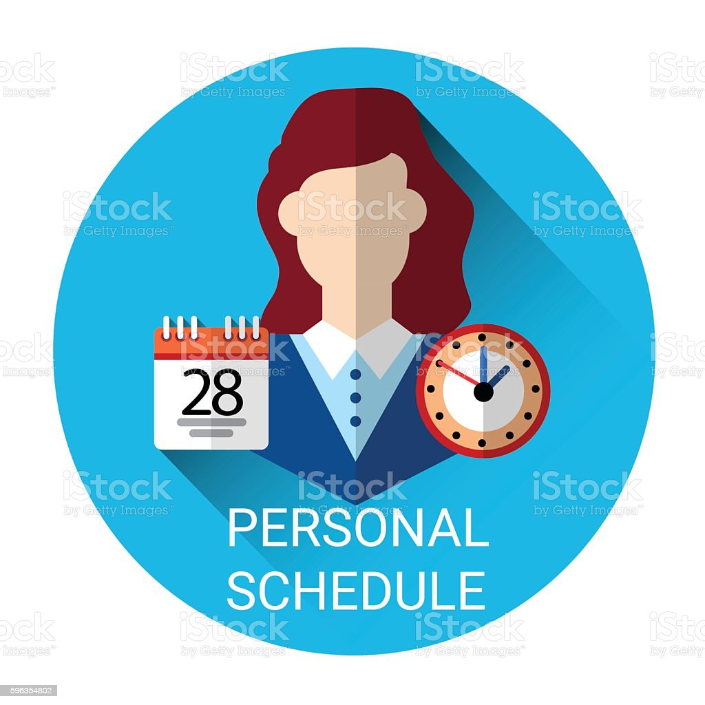 Personal Schedule Business Time Management Icon royalty-free personal schedule business time management icon stock vector art & more images of adult