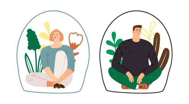 Personal space concept vector art illustration