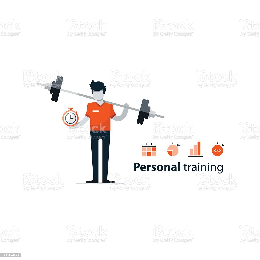 Personal Trainer Gym Membership Workout Session Boost Strength Plan Royalty Free