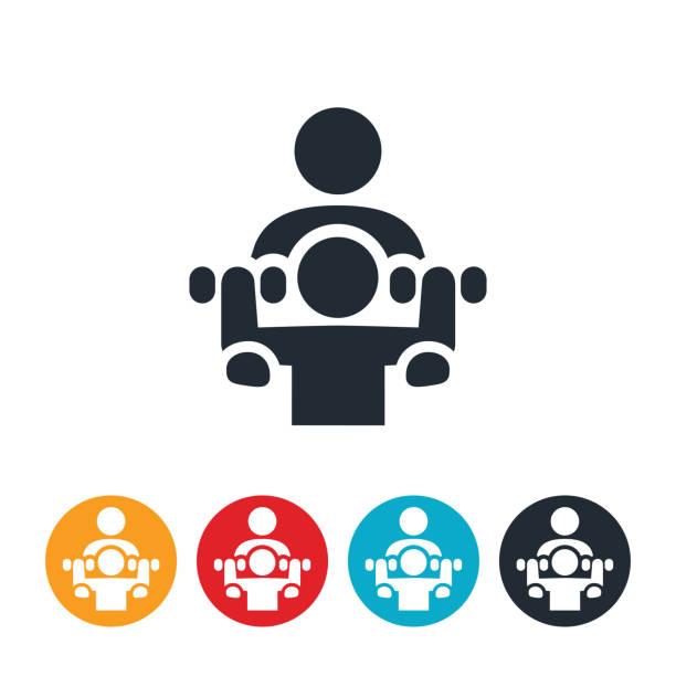 ilustrações, clipart, desenhos animados e ícones de ícone de personal trainer - personal trainer