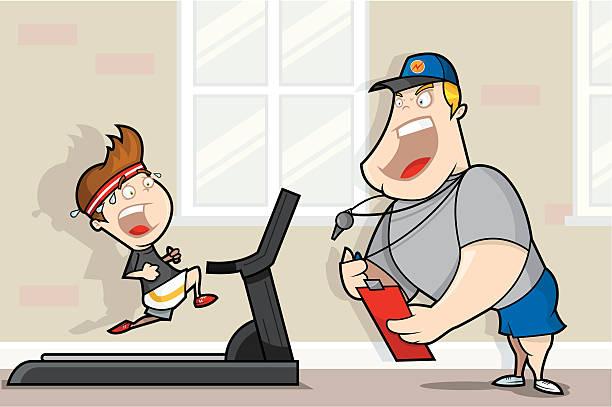 ilustrações, clipart, desenhos animados e ícones de personal trainer - personal trainer