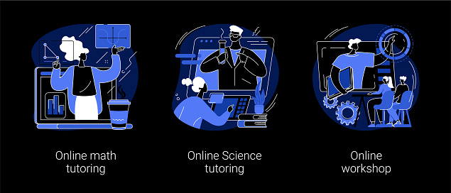 Personalised learning abstract concept vector illustrations.