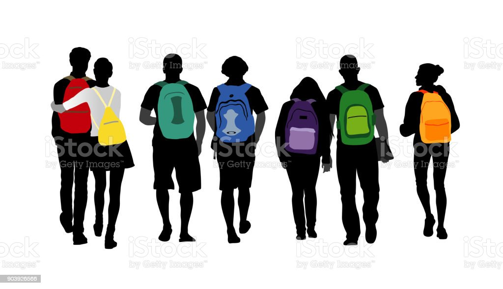 Personality Shines Backpack Students vector art illustration