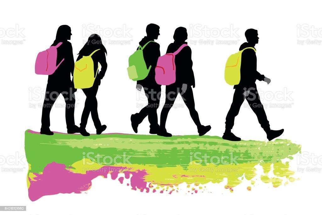 Personality Teens vector art illustration