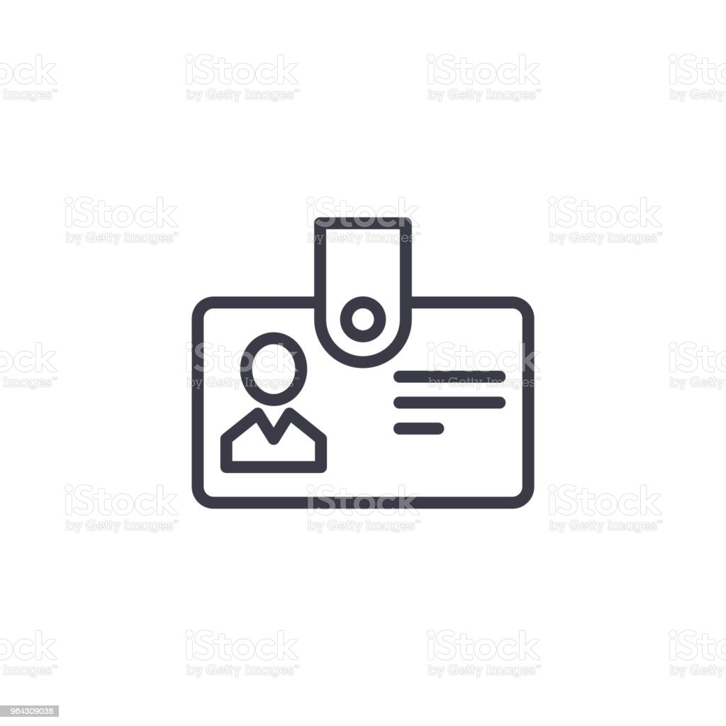 Personnel badge linear icon concept. Personnel badge line vector sign, symbol, illustration.