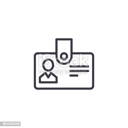 Personnel badge line icon, vector illustration. Personnel badge linear concept sign.