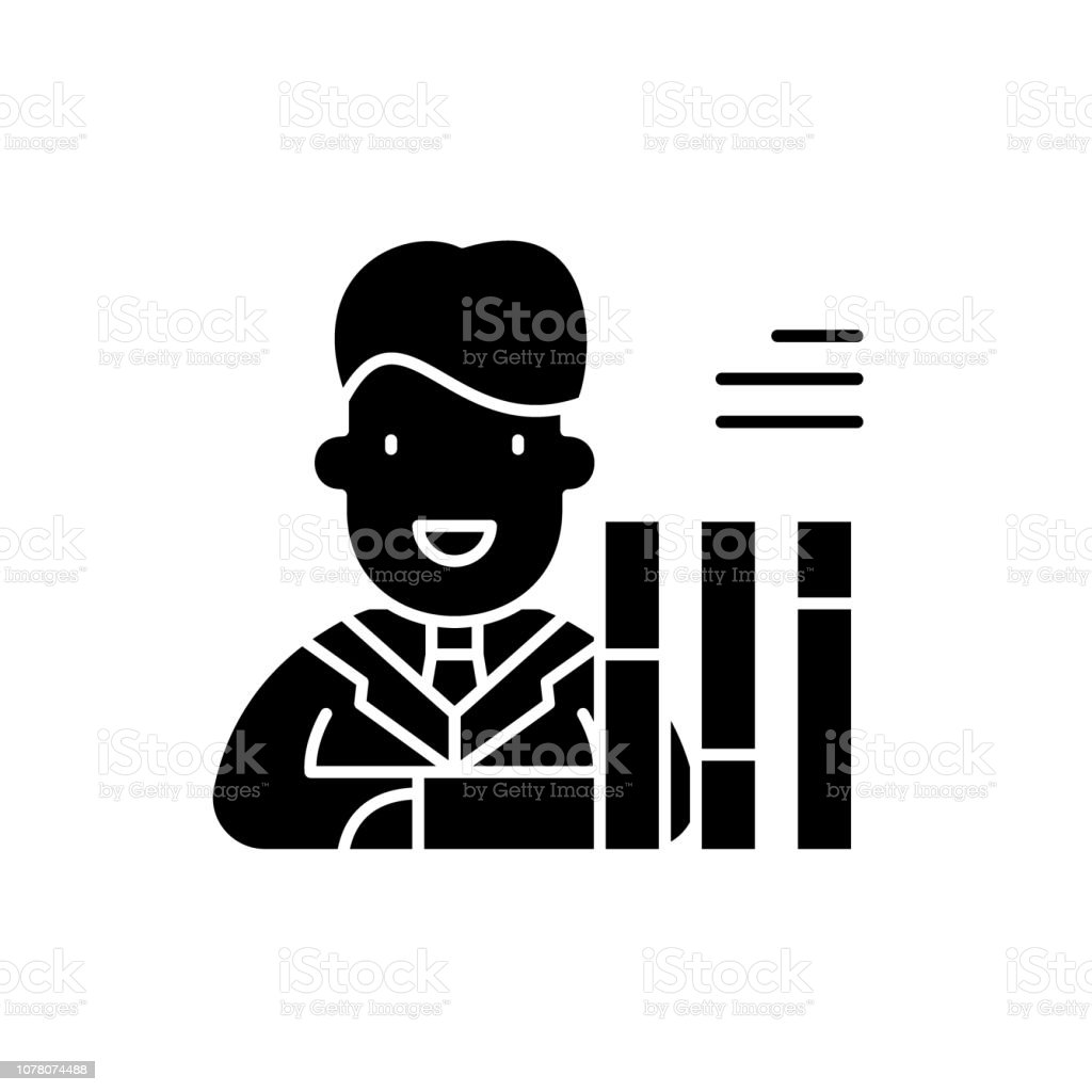 Personnel scorecard black icon, concept vector sign on isolated...
