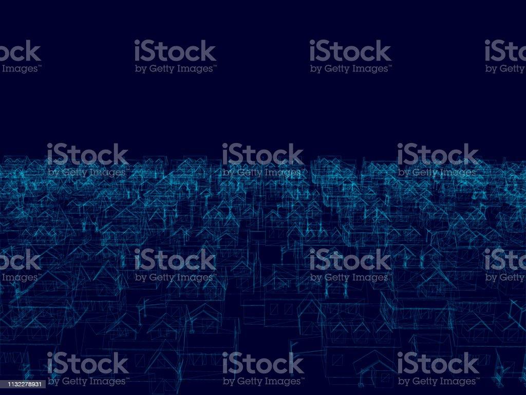 Perspektive 3D des Baugrahmens-Vektorabbildung - Lizenzfrei Abstrakt Vektorgrafik