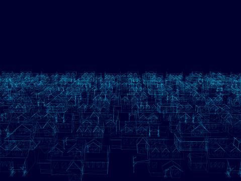 Perspektive 3d Des Baugrahmensvektorabbildung Stock Vektor Art und mehr Bilder von Abstrakt
