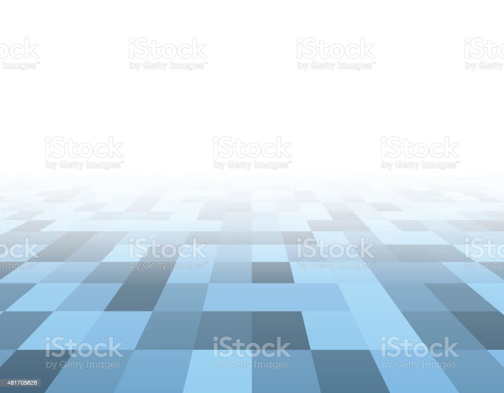 Perspective blue checkered surface