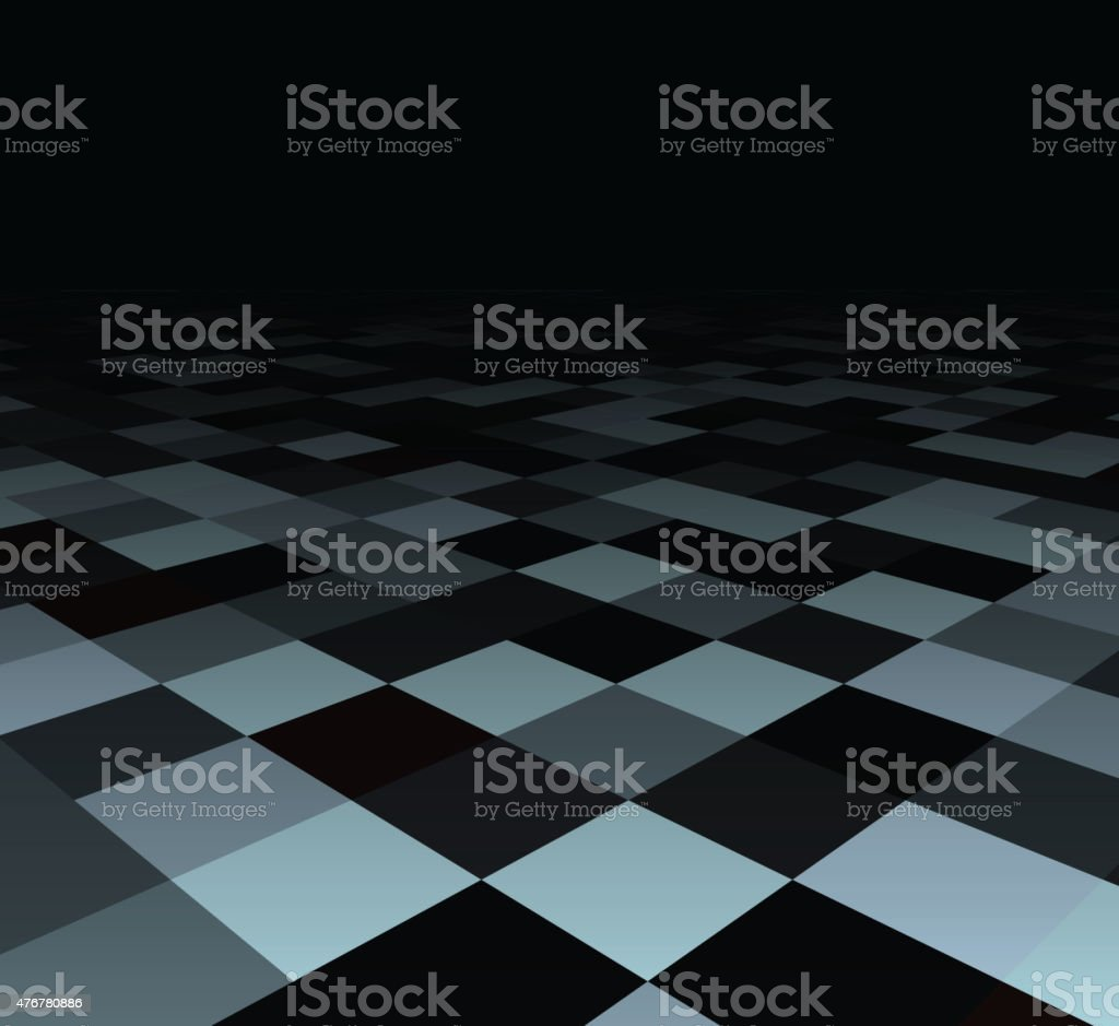 Perspective checkered surface.