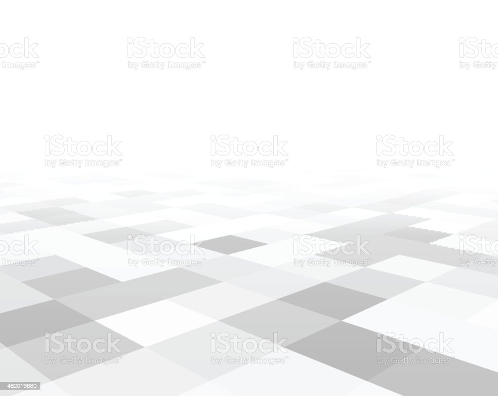 Perspective checkered surface vector art illustration