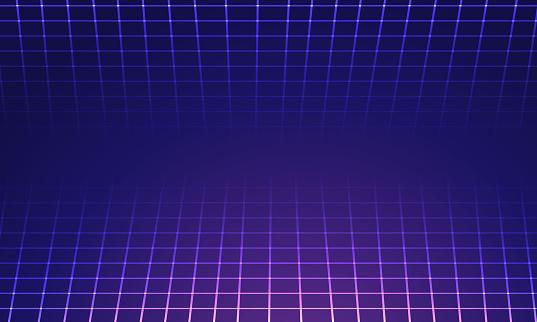 Perspective grid background illustration