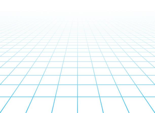 perspektive gitter hintergrund - gitter stock-grafiken, -clipart, -cartoons und -symbole
