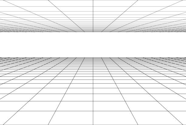 perspective grid floor background perspective grid floor background . 3d geometric backdrop diminishing perspective stock illustrations