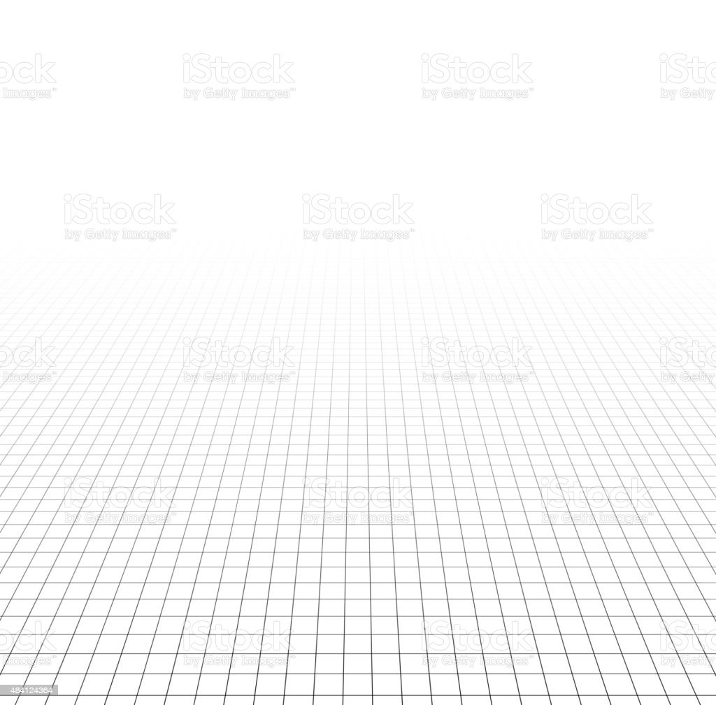 Perspective grid surface vector art illustration