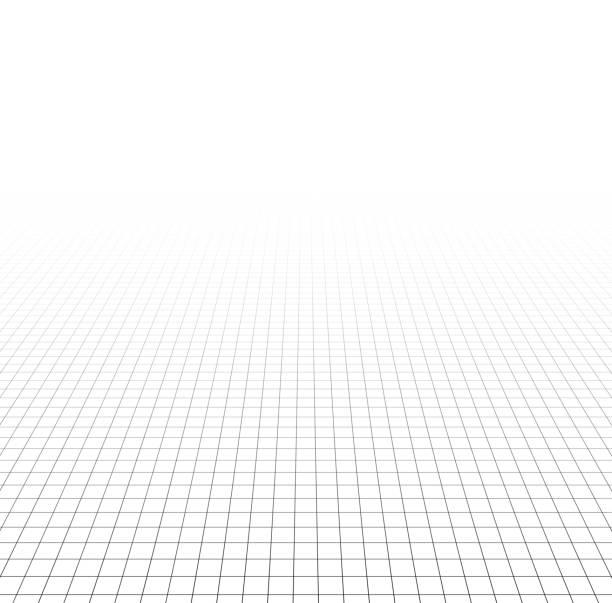 Perspective grid surface Perspective grid surface. Vector illustration.  diminishing perspective stock illustrations