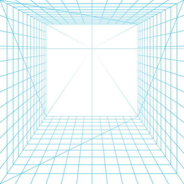 вид grid - линейная перспектива stock illustrations