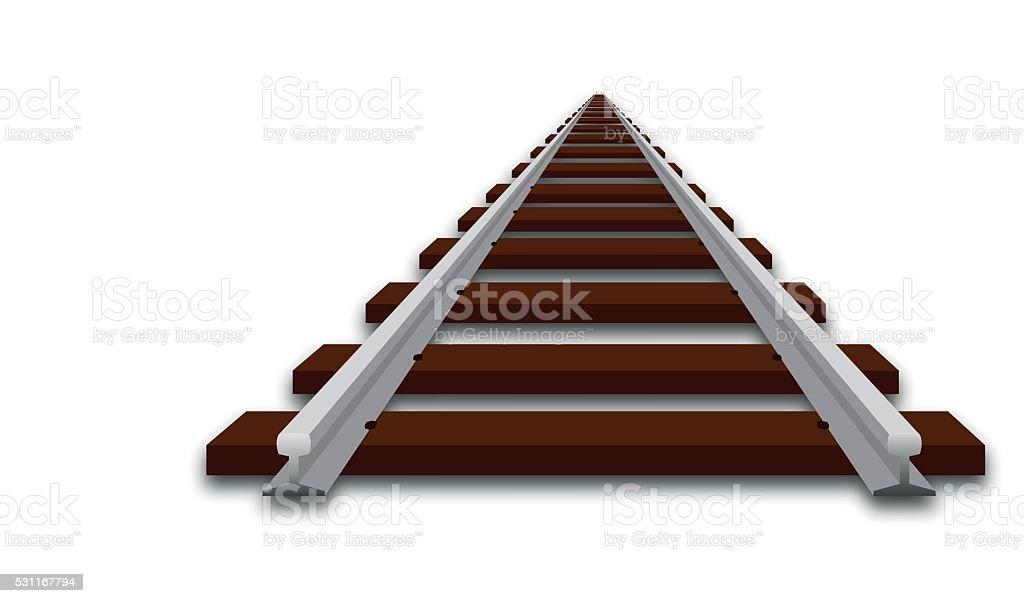 Perspektive Abbildung eines Track – Vektorgrafik