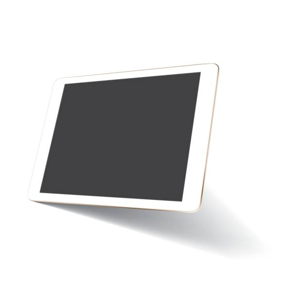 Maquette de tablette de perspective - Illustration vectorielle