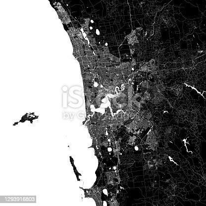 istock Perth, Australia Vector Map 1293916803
