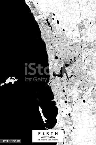 istock Perth, Australia Vector Map 1293918518