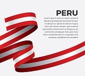 Peru, flag, country, culture, background, vector