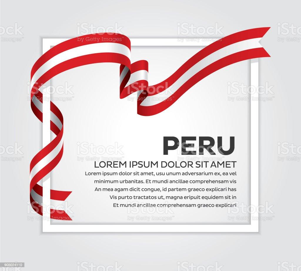 Peruanische Flagge Hintergrund – Vektorgrafik