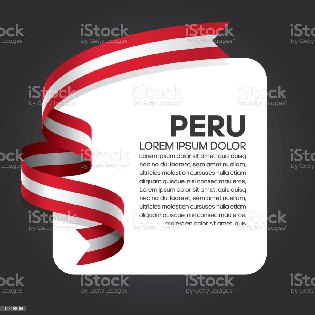Peru flag background vector art illustration