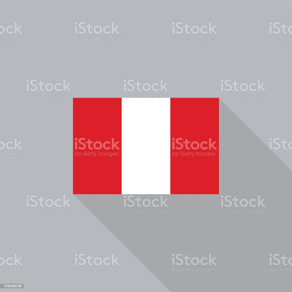 Peru flag flat design vector illustration vector art illustration