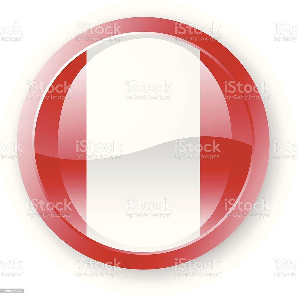 Peru Flag Icon royalty-free stock vector art
