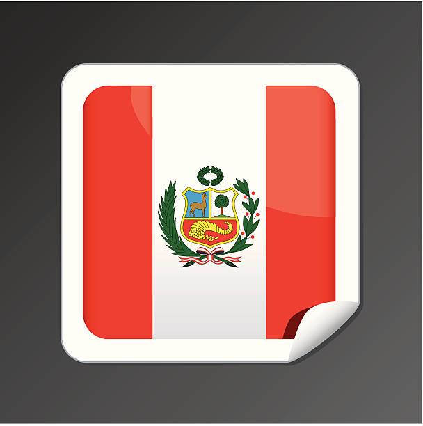 ペルー国旗のアイコン - ペルーの国旗点のイラスト素材/クリップアート素材/マンガ素材/アイコン素材