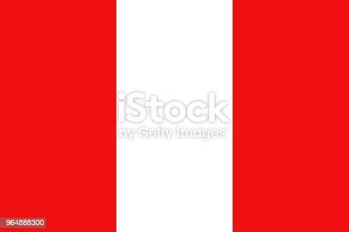 Peru Flag National Flag Of Peru Vector Illustration Stock Vector Art & More Images of Abstract 964888300