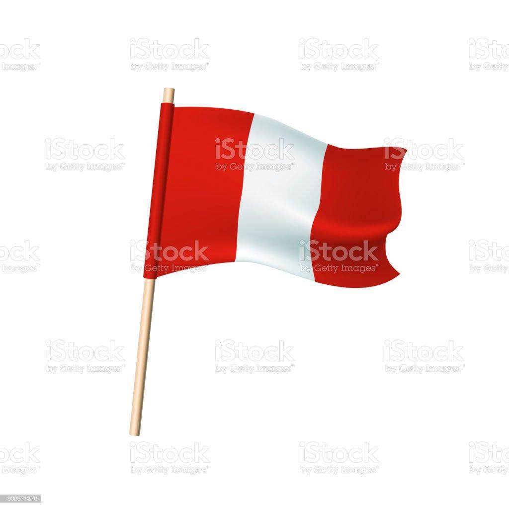 Peru-Flagge. Roten und weißen Streifen. – Vektorgrafik