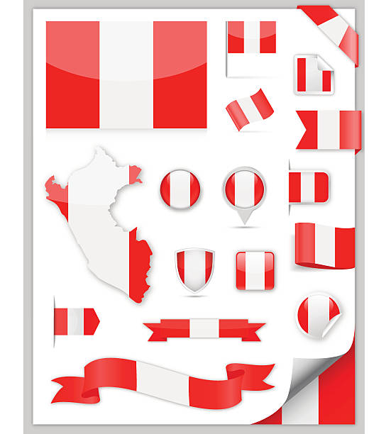 Peru Flag Set - Vector Collection – Vektorgrafik