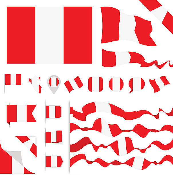 Peru Flag Set – Vektorgrafik