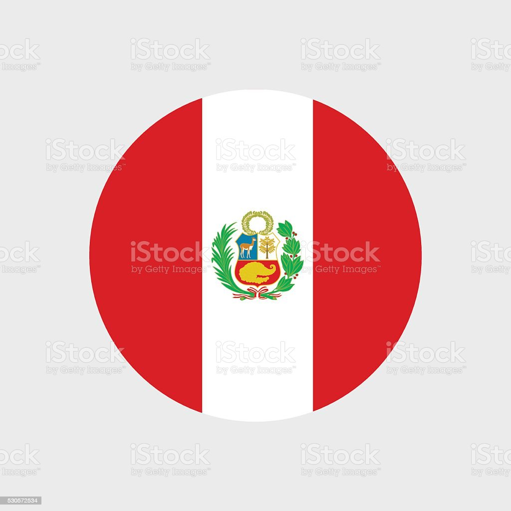 Peruanische Flagge – Vektorgrafik