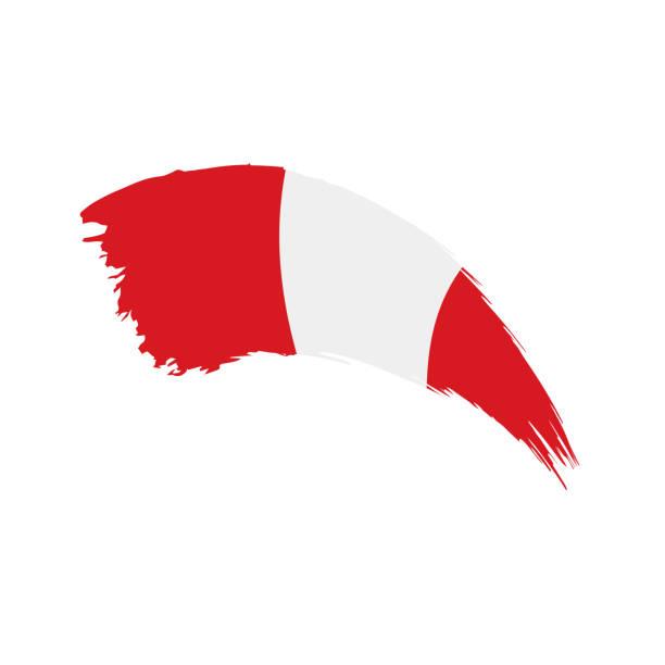 Bandera de Perú, ilustración vectorial - ilustración de arte vectorial