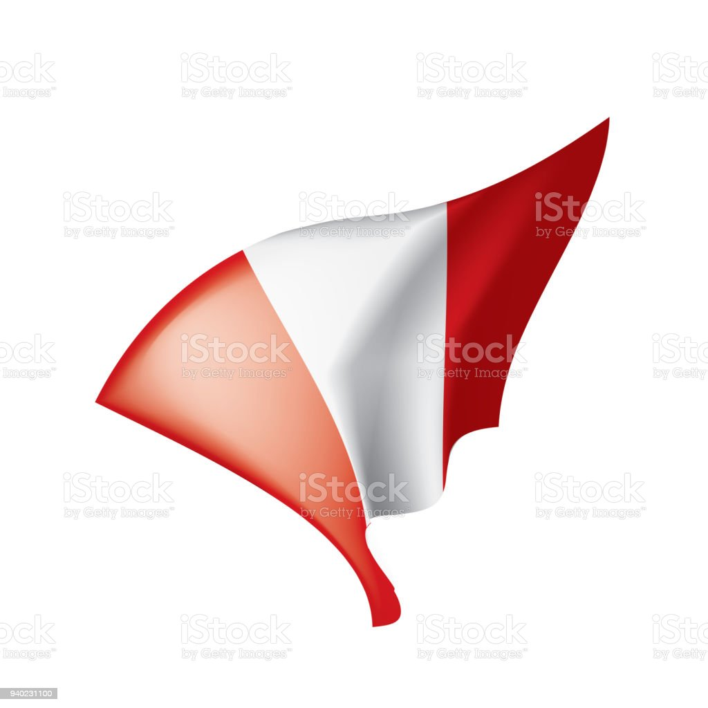Peru Flag Vector Illustration Stock Vector Art More Images Of