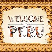 Peru flyer lettering background