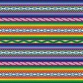 Peru Incan Traditional Woven Fabric Seamless Pattern