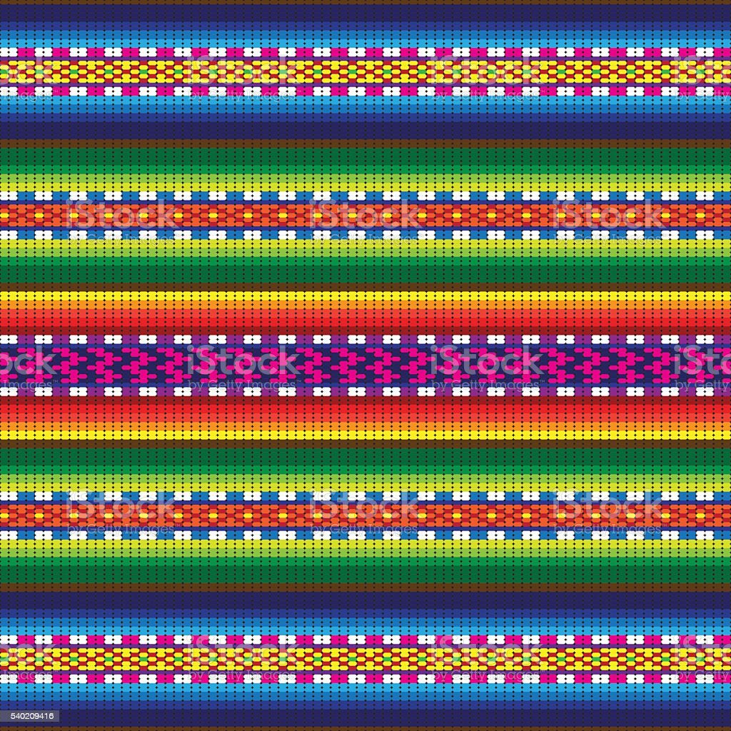 Peru Incan Traditional Woven Fabric Seamless Pattern Stock