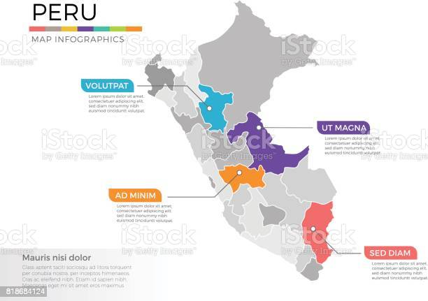 Peru map infographics vector template with regions and pointer marks vector id818684124?b=1&k=6&m=818684124&s=612x612&h=xiqhi2xequnihxd jz7 18rv4goedykz4zevu0ftg1g=