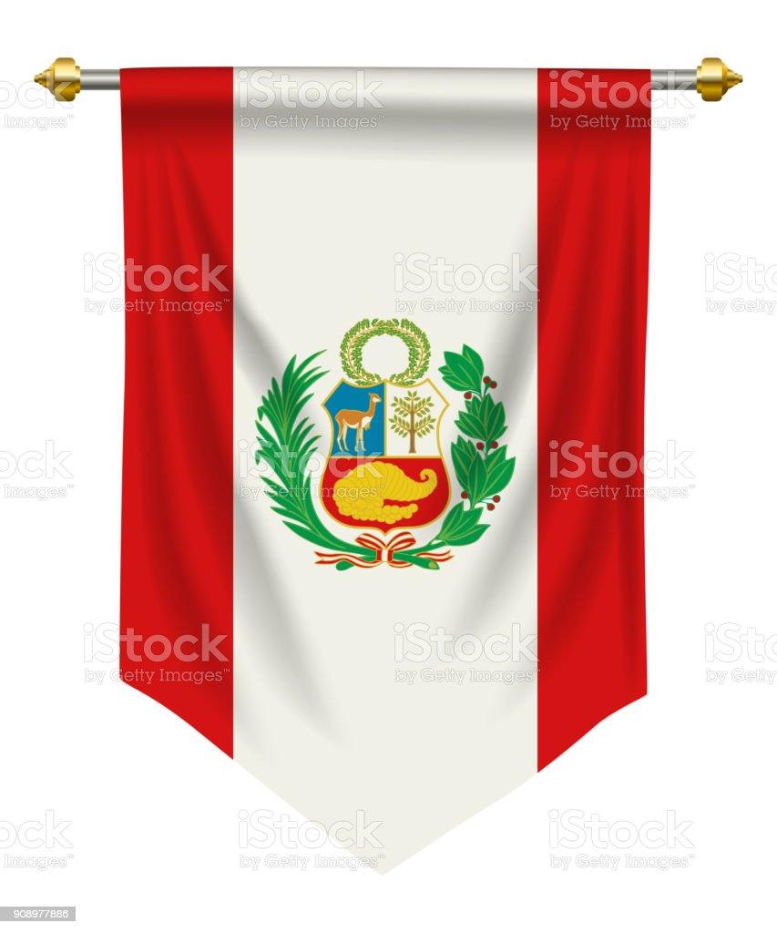 Peru-Wimpel – Vektorgrafik