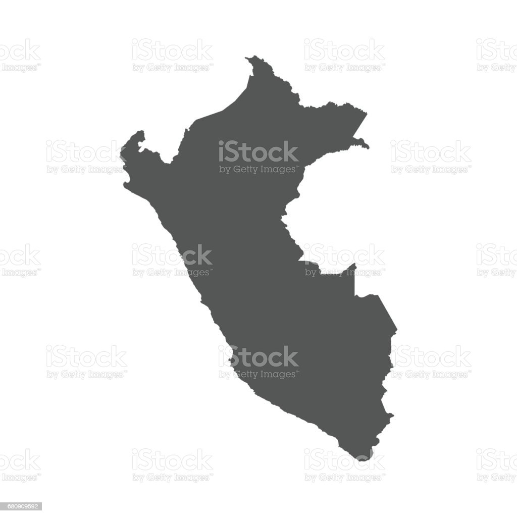 Peru vector map. royalty-free peru vector map stock vector art & more images of black color