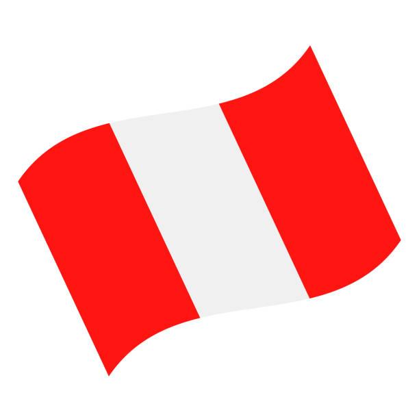 ペルー - フラグ ベクトル フラット アイコンを振って - ペルーの国旗点のイラスト素材/クリップアート素材/マンガ素材/アイコン素材