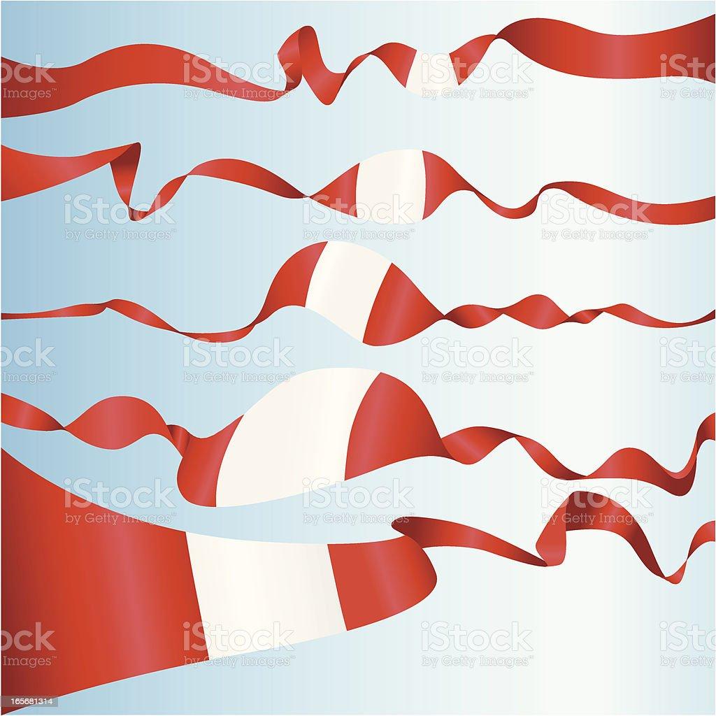 Peruanische Banner – Vektorgrafik