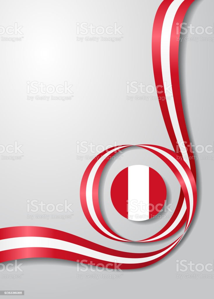 Peruvian flag wavy background. Vector illustration. vector art illustration